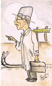 dziadek bronek karykatura