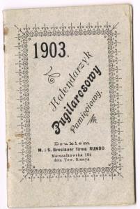 kalendarz 1903-1