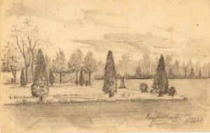rysunek gienia park w lodzi