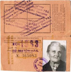 bilet prababci 1963