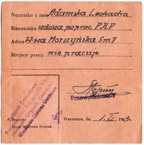 bilet prababci 1963b