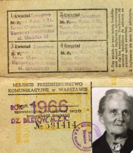 bilet prababci 1966