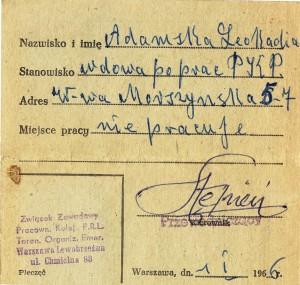 bilet prababci 1966b